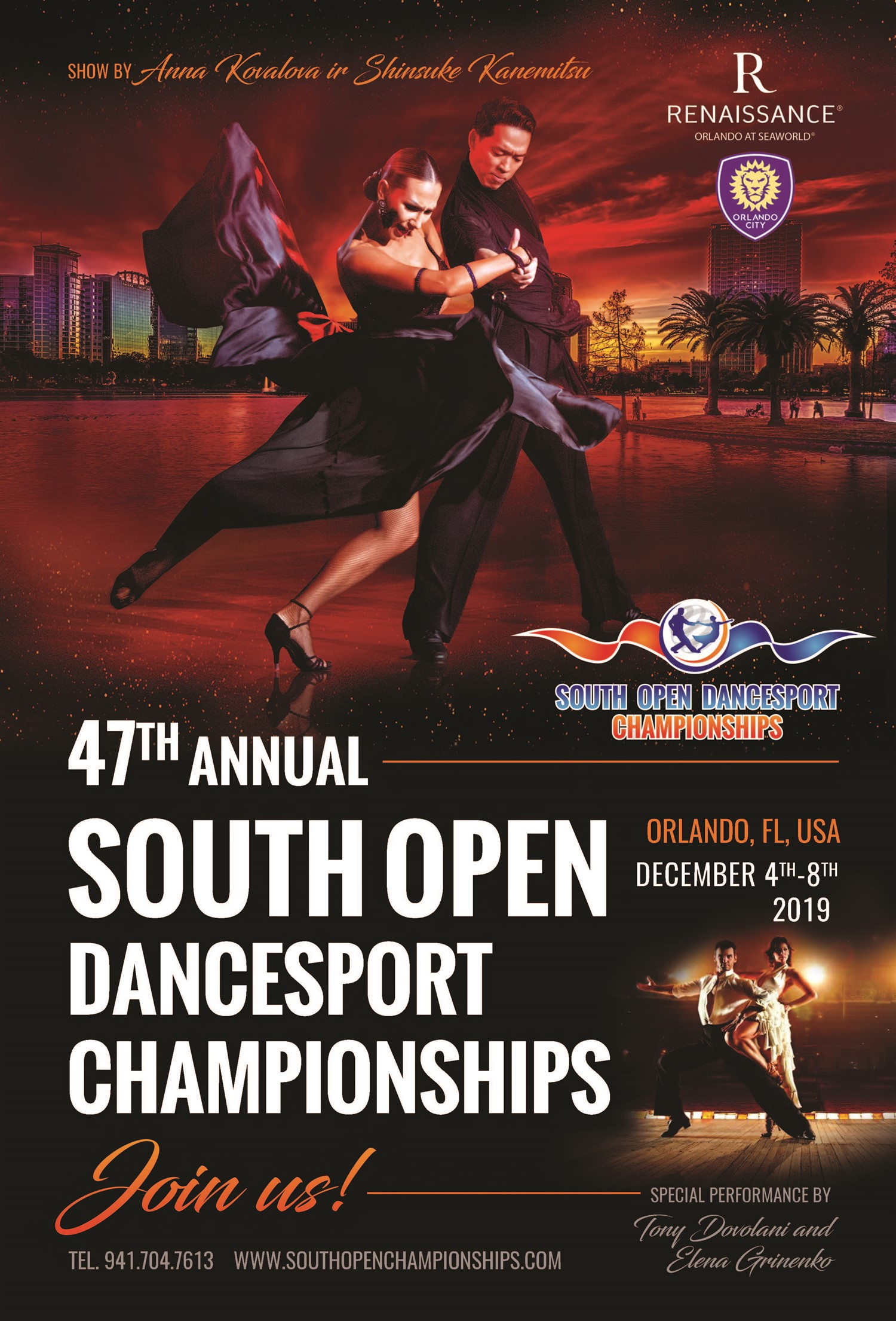 South Open Dancesport Championships  on Dec 04, 18:00@Renaissance Orlando @SeaWorld - Buy tickets and Get information on DST Events