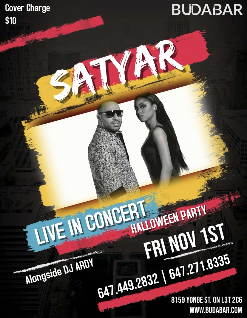 SATYAR Live Concert HALLOWEEN Party on Nov 01, 22:00@BUDABAR - Buy tickets and Get information on PEREVENTS tickets.perevents.com