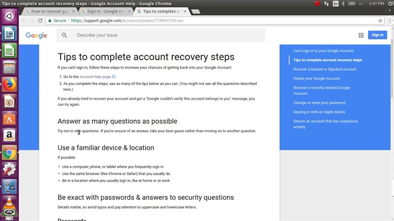 How to Change Google Account Password on iPad