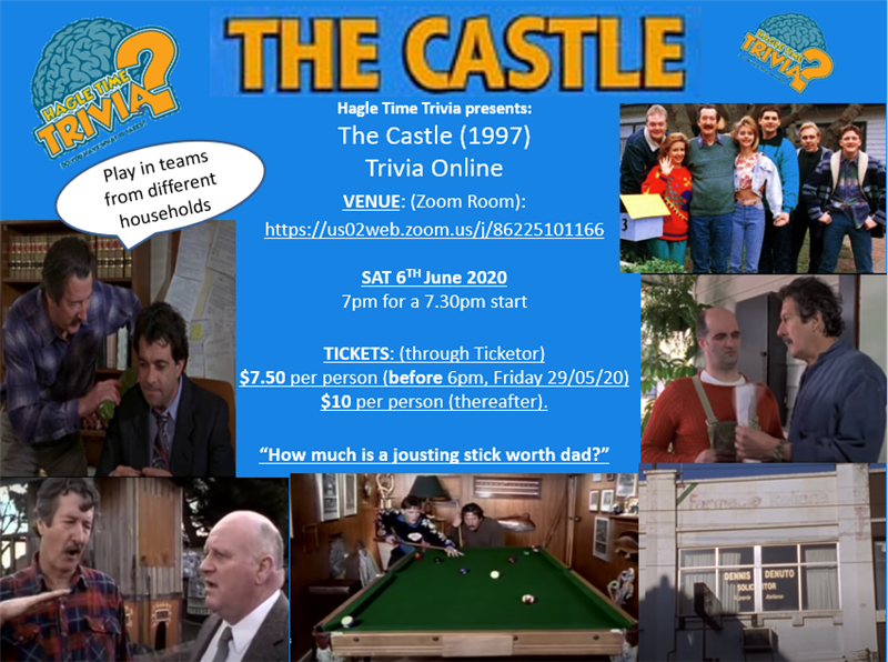 Get Information and buy tickets to The Castle (1997) Online Trivia Hagle Time Trivia on Hagle Time Trivia