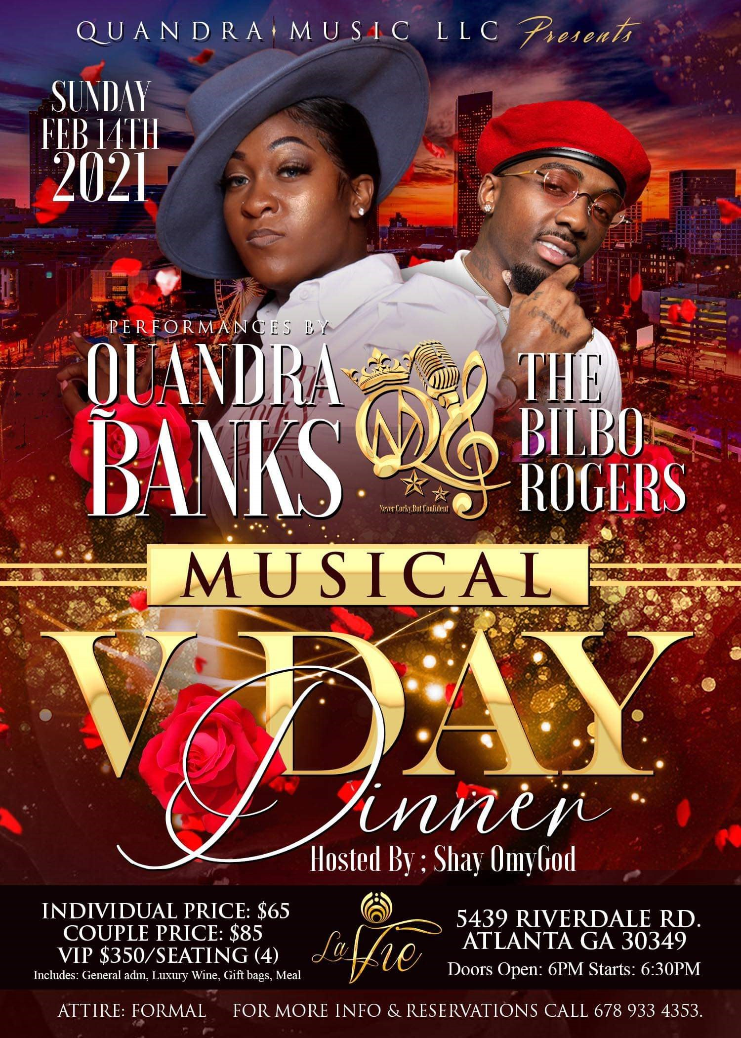 V Day Musical Dinner  on Feb 14, 18:00@La Vie - Buy tickets and Get information on K-Sound Praise Fest Music Awards