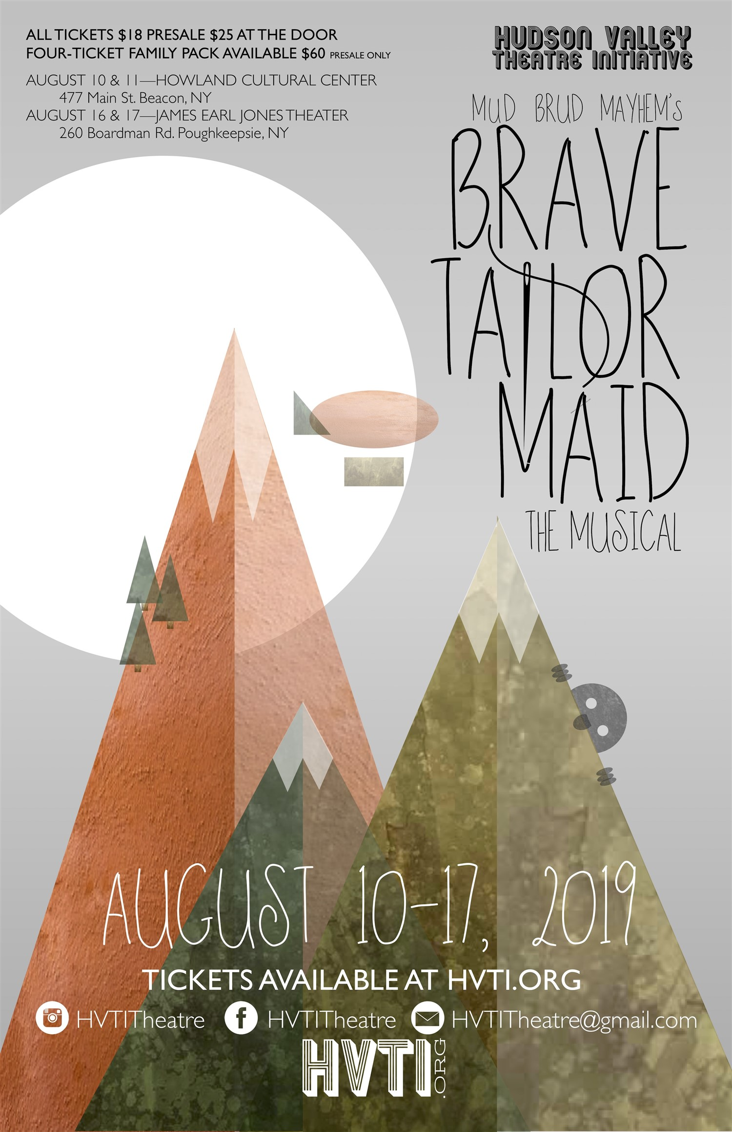 Brave Tailor Maid The Musical on Aug 16, 19:00@James Earl Jones Theater - Buy tickets and Get information on Hudson Valley Theatre Initiati