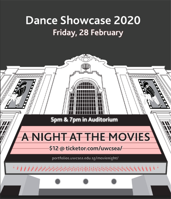 Get Information and buy tickets to Dance Showcase 2020 5pm (Final) Night at the Movies on UWCSEA Ticket Hub