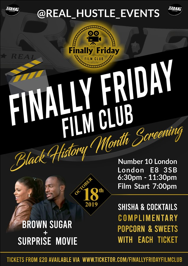 Get Information and buy tickets to Finally Friday Film Club Black History Month Screening on Finally Friday Film Club