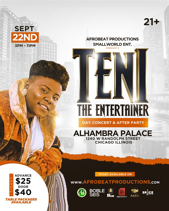 TENI LIVE IN CHICAGO