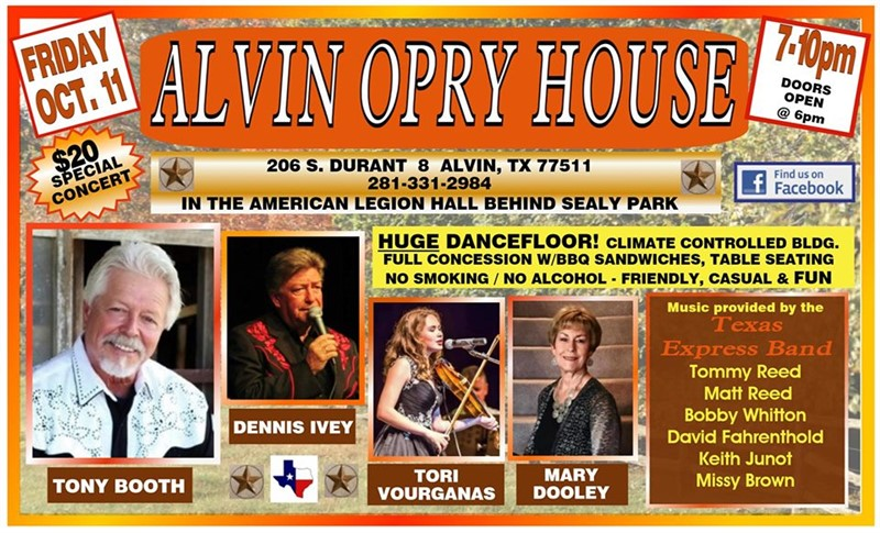 The Alvin Opry House Presents Tony Booth