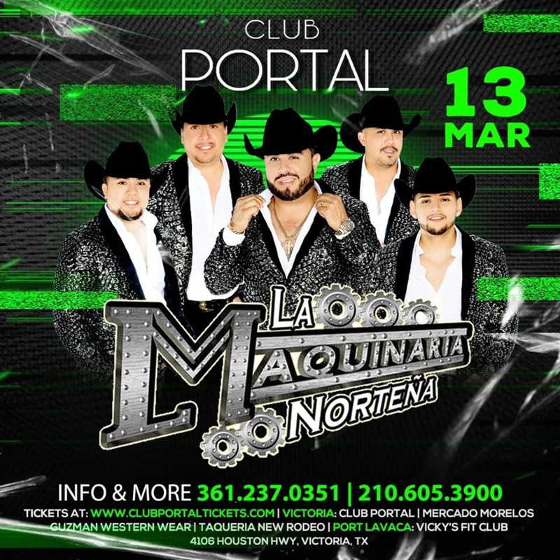 Get Information and buy tickets to La Maquinaria Norteña  on Club Portal