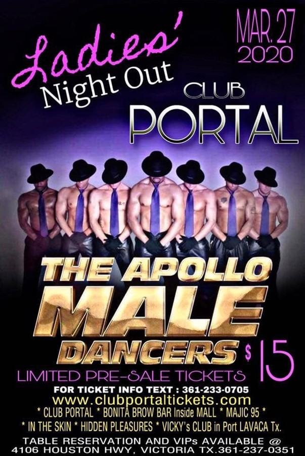Obtener información y comprar entradas para The Apollo Male Dancers Ladies Night Out! en Club Portal.