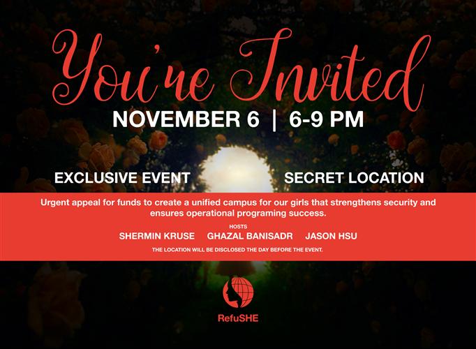 RefuSHE Secret Exclusive Fundraising Event