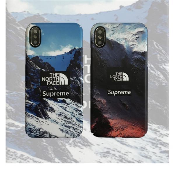 シュプリーム TheNorthFaceコラボ iphone11Proケース 雪山 ステューシー iphone11Proケ