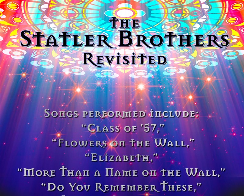 Get Information and buy tickets to Statler Brothers Revisited Country Gospel Tribute on God and Country Theaters