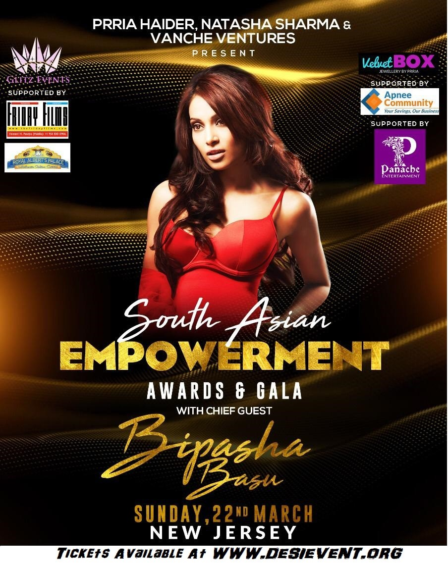 Bipasha Basu at Royal Alberts Palace, NJ 22 March, 2020  on Mar 22, 18:00@Royal Albert NJ - Buy tickets and Get information on Desi Events desievent.org