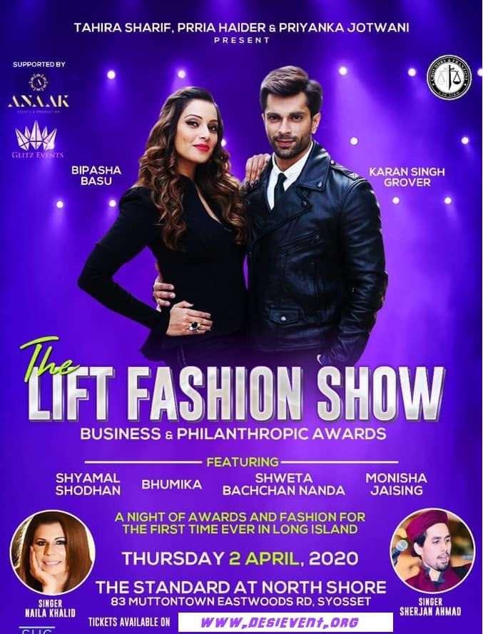 Bipasha Basu & Karan Singh Grover In New York The Lift Fashion Show on Apr 02, 20:00@The Standard at North Shore - Buy tickets and Get information on Desi Events desievent.org