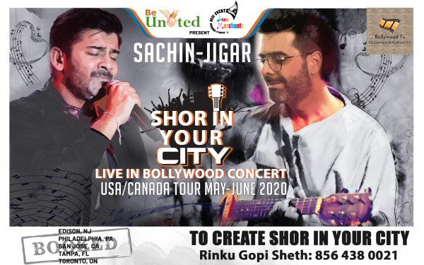 Get Information and buy tickets to Sachn - Jigar Shor in your City Live in Bollywood Concert coming soon USA/ Canada Tour May- June 2020 on Desi Events