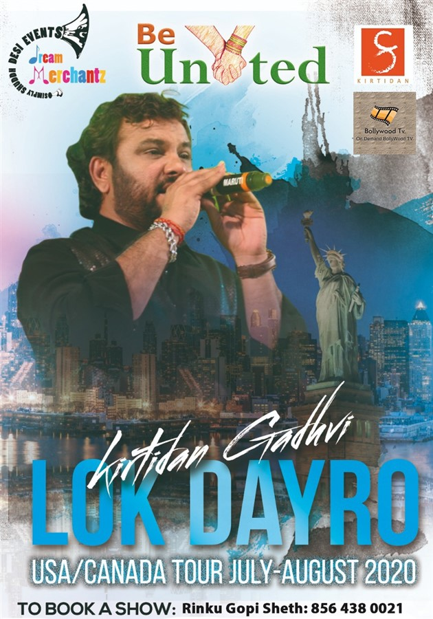 Get Information and buy tickets to lok Dayro Kirtidan Gadhvi USA/Canada Tour JULY-AUGUST 2020 on Desi Events