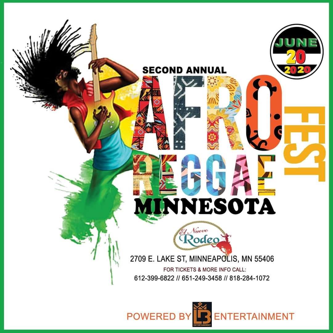 Afro Reggae Fest, Minnesota  on Jun 20, 20:00@El Nuevo Rodeo - Buy tickets and Get information on Ticketlevels