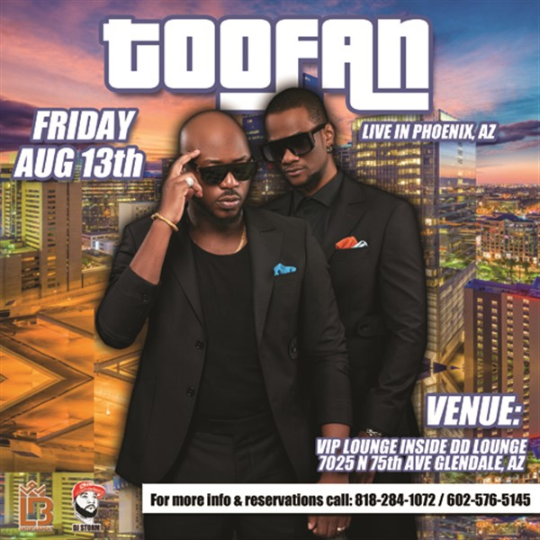 TOOFAN LIVE IN PHOENIX,AZ  on Aug 13, 21:00@DD LOUNGE - Buy tickets and Get information on Ticketlevels