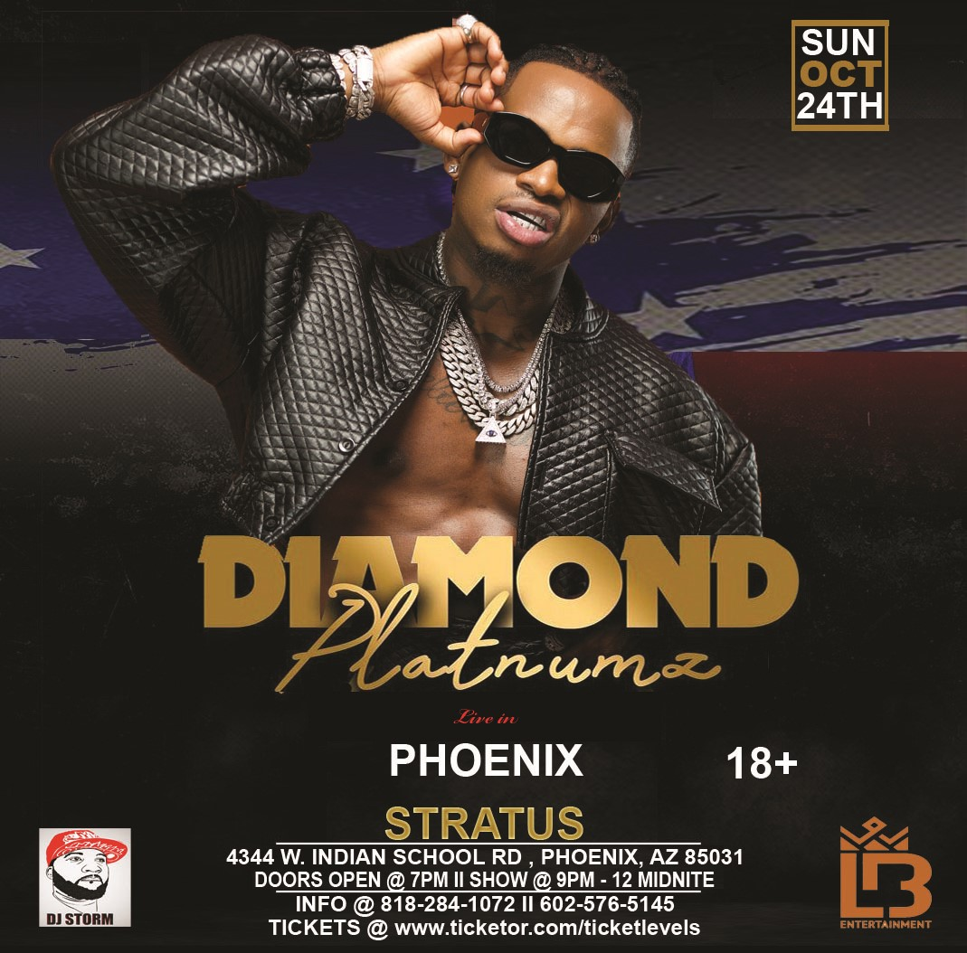 DIAMOND LIVE IN PHX  on Oct 24, 19:00@STRATUS EVENT CENTER - Buy tickets and Get information on Ticketlevels ticketlevels.com