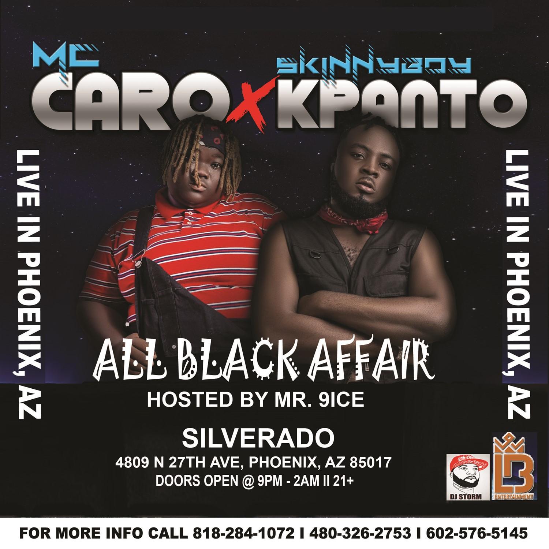 SKINNYBOY X MC CARO LIVE IN PHOENIX, AZ  on Nov 26, 21:00@SILVERADO - Buy tickets and Get information on Ticketlevels ticketlevels.com