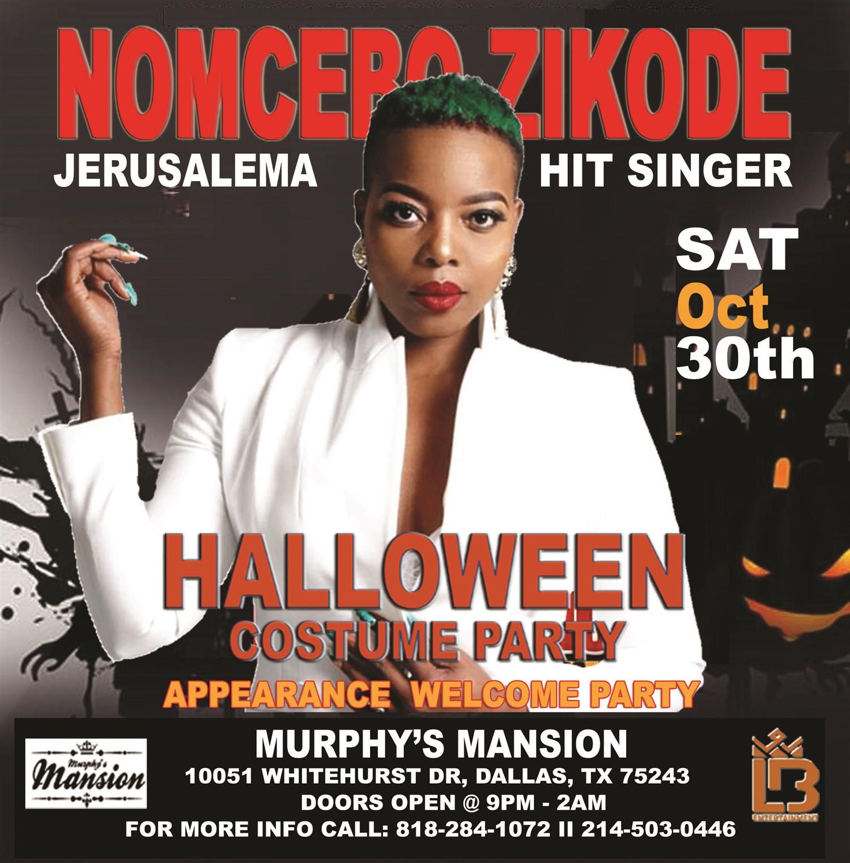 JERUSALEMA HIT SINGER NOMCEBO LIVE IN DALLAS  on Oct 30, 20:00@MURPHY'S MANSION - Buy tickets and Get information on Ticketlevels ticketlevels.com