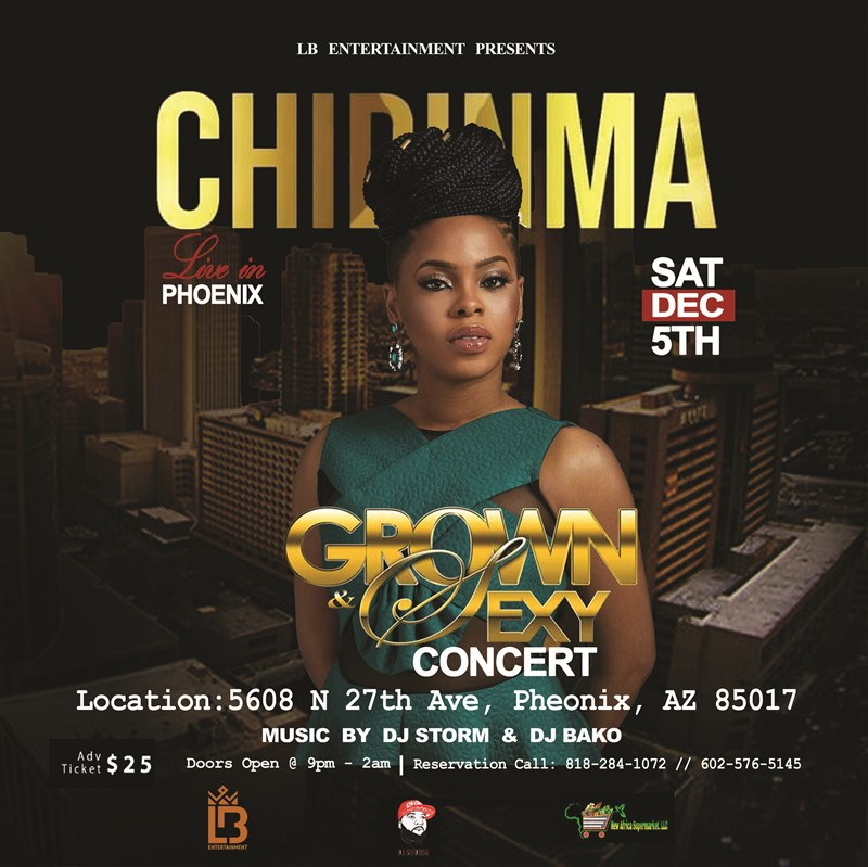 CHIDINMA  LIVE @ THE ALL BLACK AFFAIR