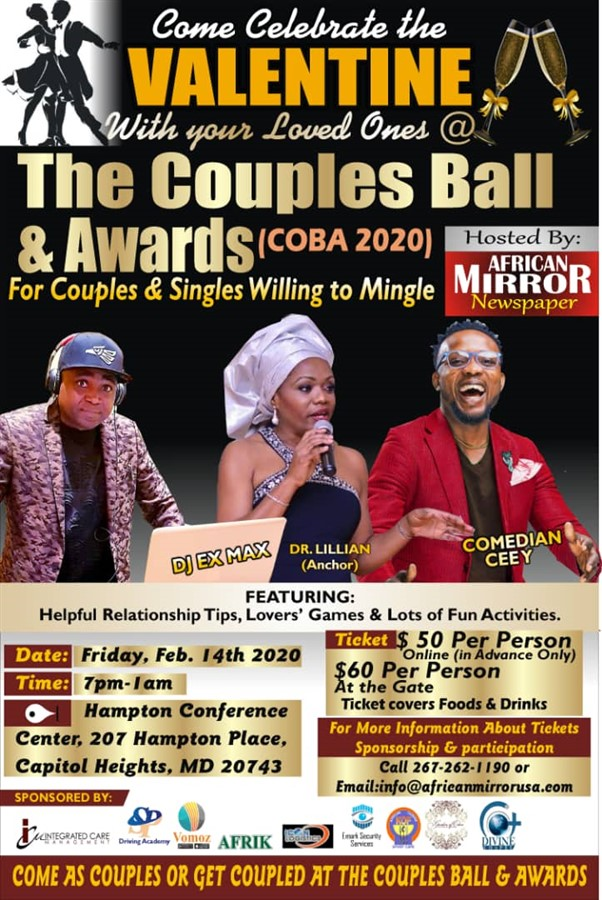 The Couples Ball & Awards (COBA 2020)