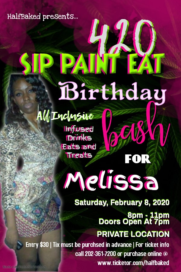 420 Sip Paint Eat Bithday Bash For Melissa