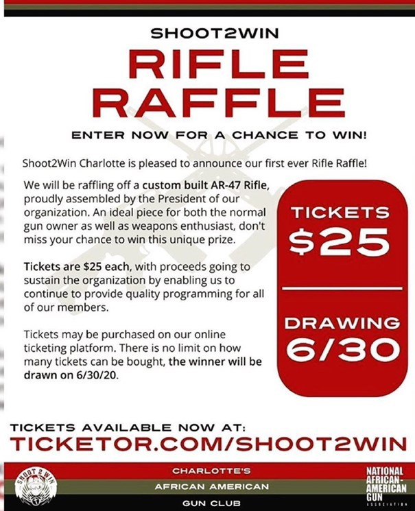 Shoot 2 Win Charlotte Custom Rifle Raffle