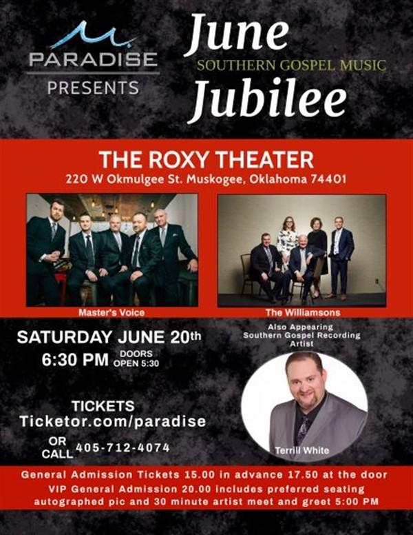 June Southern Gospel Singing Jubilee