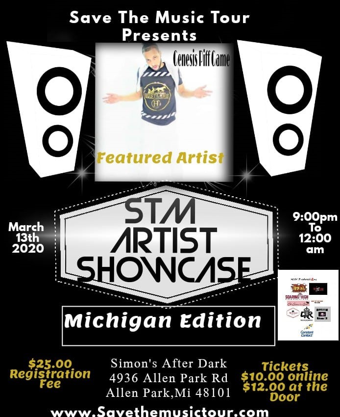STM Artist Showcase Michigan Edition  on Mar 13, 21:00@Simons After Dark - Buy tickets and Get information on www.savethemusictour.com