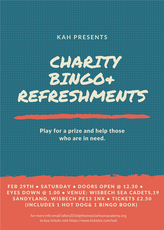charity bingo & refreshments