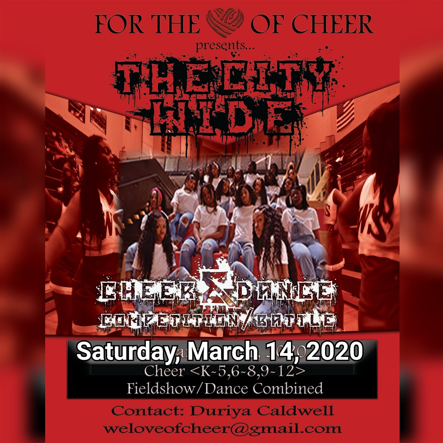 For The Love of Cheer Cheer/Dance Competition on Mar 14, 12:00@White Station High School - Buy tickets and Get information on For The Love of Cheer