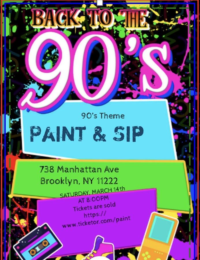 90's Theme Paint & Sip