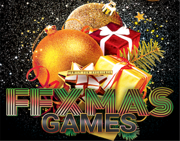FFXmas Games FUNSgiving season continues: Our special Christmas fun & games show for teams, friends, & families! on Dec 25, 00:00@FFX Theater - Pick a seat, Buy tickets and Get information on Family Fun Xperience ffx