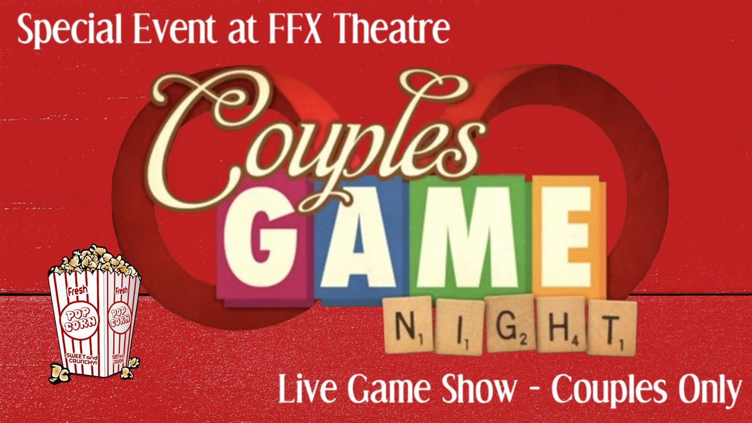 Couples Game Night! Live Game Show - Couples Only - Date Night FUN! on Oct 02, 20:00@FFX Theatre - Buy tickets and Get information on Family Fun Xperience tickets.ffxshow.org