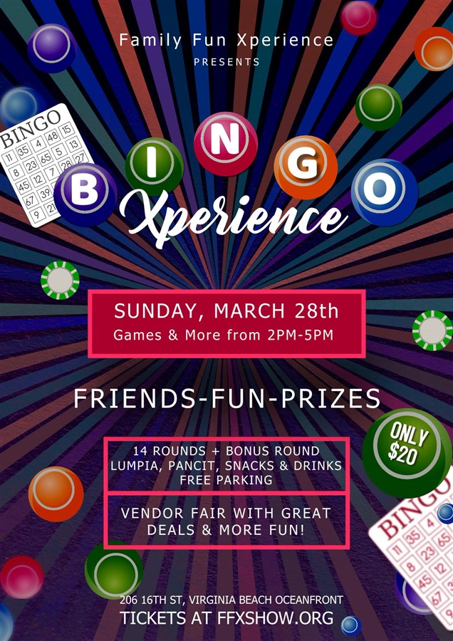 Get Information and buy tickets to Bingo Xperience & Vendor Pop-Up Show (games, shopping specials, prizes, and much more!) on Family Fun Xperience