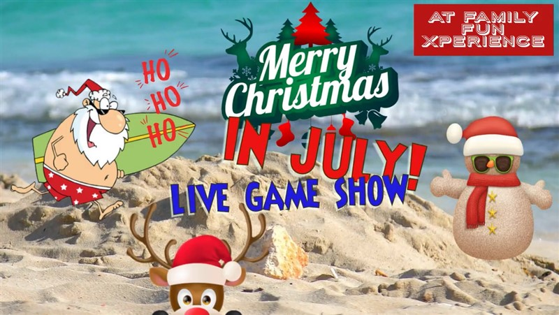 Get Information and buy tickets to Christmas in July Game Show! All the fun of FFXmas returns for a summertime special on Family Fun Xperience