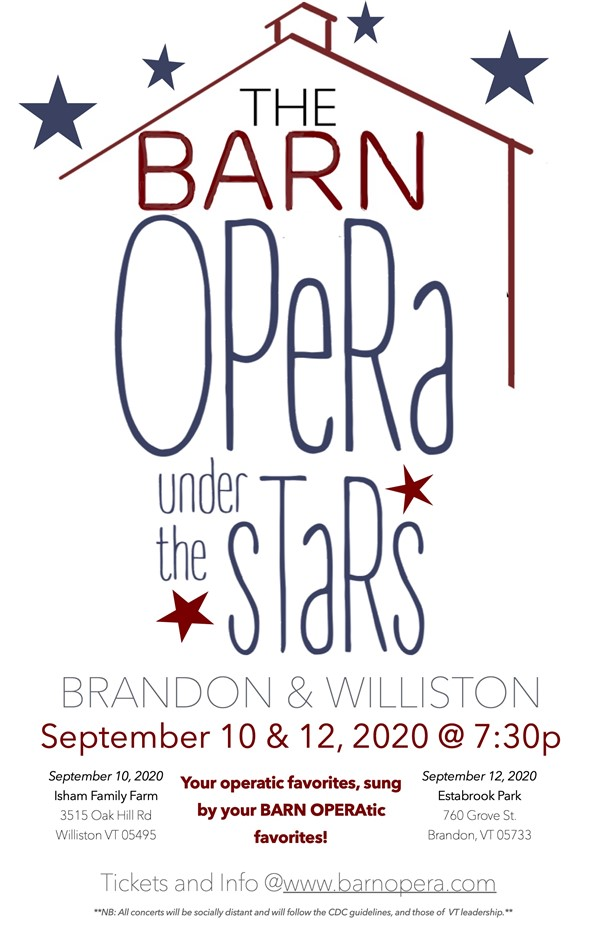 Get Information and buy tickets to BARN OPERA Under the Stars Opera and Musical Favorites on BARN OPERA