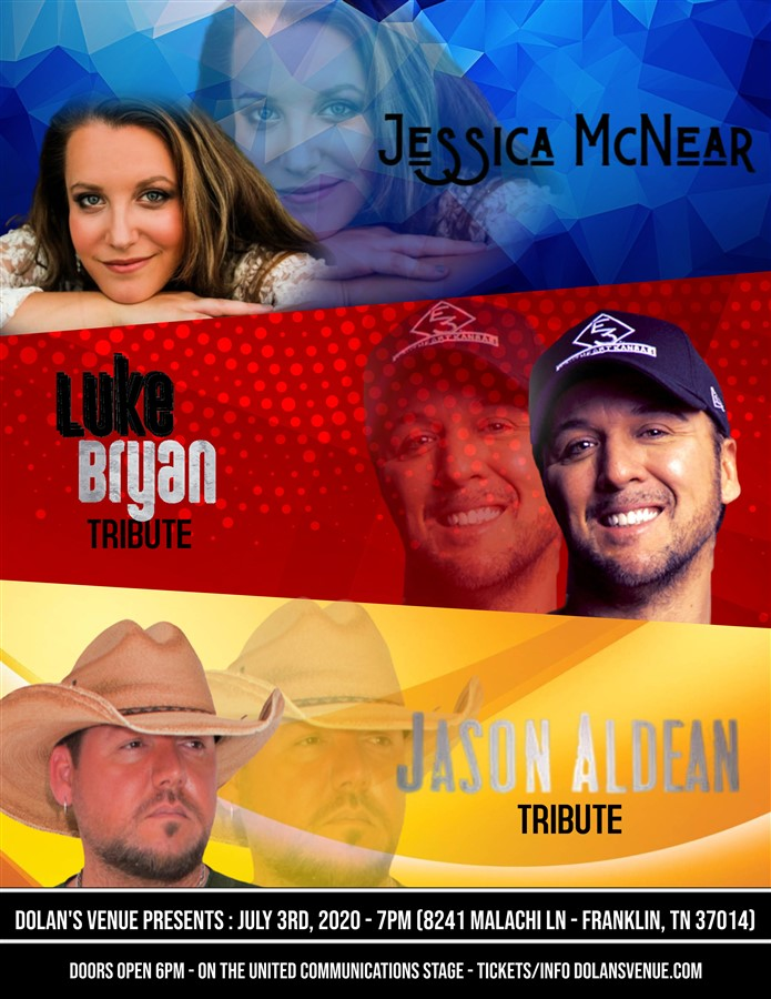 Get Information and buy tickets to Ultimate  Aldean & Luke Bryan tribute with Jessica McNear on Dolans Venue