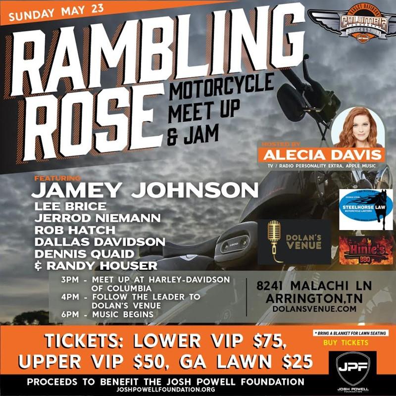 Ramblin Rose Motorcycle and Jam