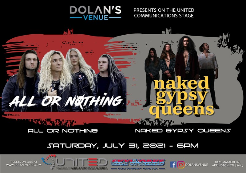Get Information and buy tickets to All or Nothing with Naked Gypsy Queens  on Dolans Venue