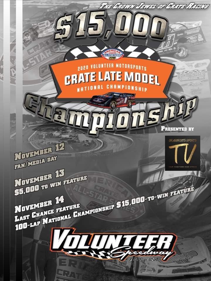 (Friday) 2020 Volunteer Motorsports Crate Late Model National Championship image