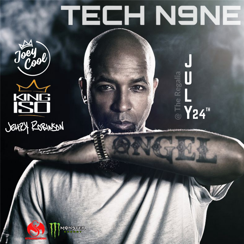 Get Information and buy tickets to Tech N9NE  on theregaliahotel.com