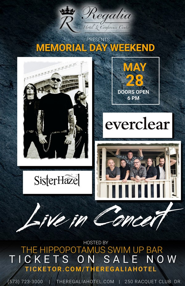Get Information and buy tickets to Everclear/Sister Hazel  on theregaliahotel.com