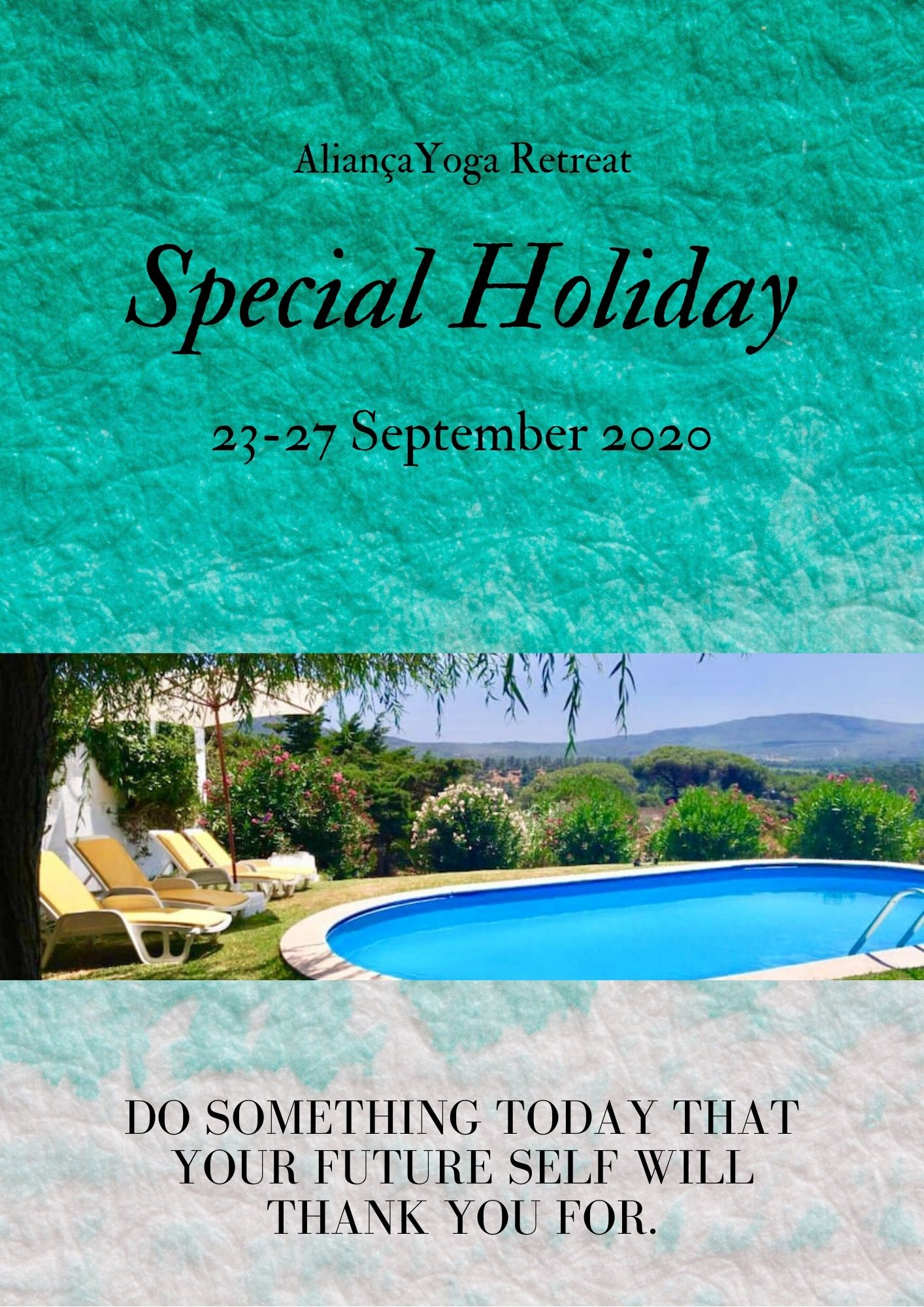Special Holiday 23-27 September on Sep 23, 06:00@Special Holiday Arrábida - Buy tickets and Get information on Aliança Retreats