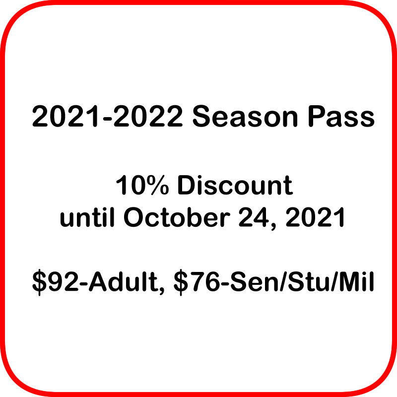 2021-2022 Season Pass 1 seat for each show of the 2021-2022 season on Jun 24, 00:00@LCCT - Buy tickets and Get information on Las Cruces Community Theatre lcct