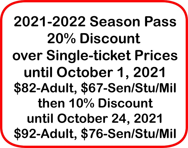 Get Information and buy tickets to 2021-2022 Season Pass 1 seat for each show of the 2021-2022 season on Las Cruces Community Theatre
