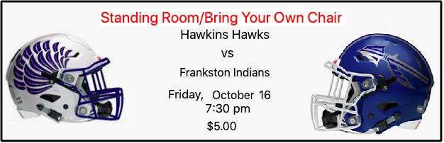 Hawkins Hawks vs Frankston Indians