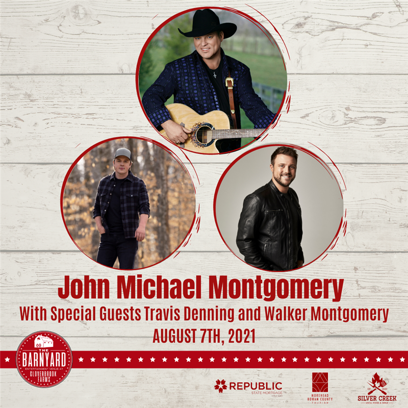 Get Information and buy tickets to John Michael Montgomery With Travis Denning and Walker Montgomery  on The Barnyard