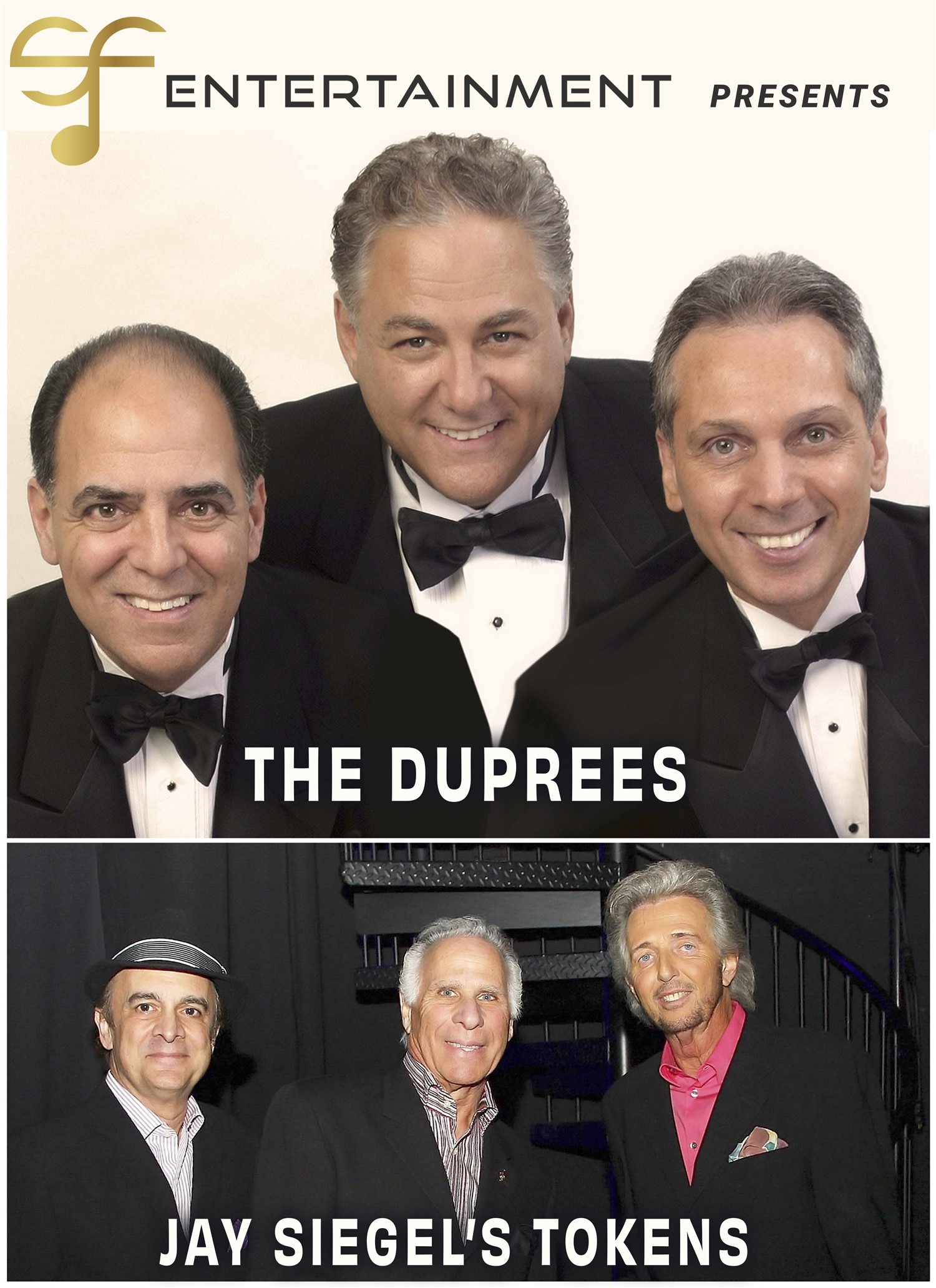 A SPECIAL EVENING WITH THE DUPREES AND JAY SIEGAL'S TOKENS  on Nov 07, 19:30@Yorktown Stage - Pick a seat, Buy tickets and Get information on Yorktown Stage